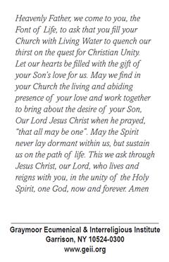 Prayer Cards - Graymoor Ecumenical & Interreligious Institute