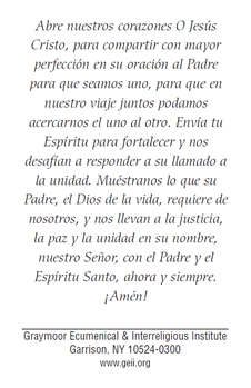 Prayer in spanish